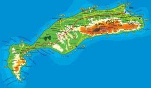 Carte de l'Ile de Kos