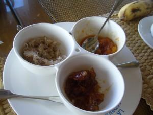 Confitures locales au petit déjeuner