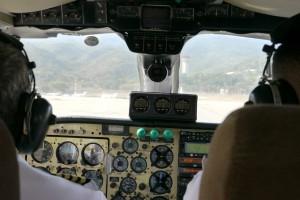 Presque dans la cabine de pilotage