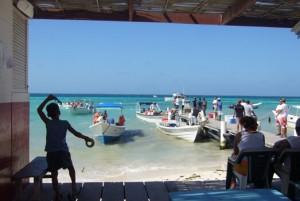 Embarquement pour les iles