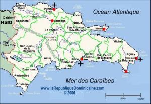 Carte République Dominicaine