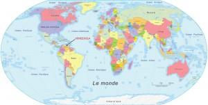 Localisation dans le monde