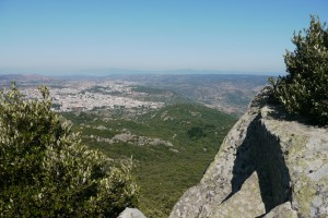 Nuoro depuis le mont Ortobene