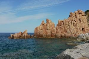 Les roches rouges d'Albatax