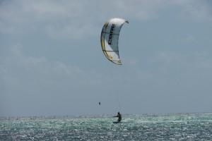 Kite sur le lagon de St François